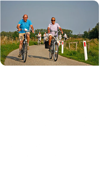 ï·¯ Nijmegen Cycling Vierdaagse Nijmegen August During the last weekend of august the participant can discover the beautiful surroundings of Nijmegen. They can enjoy all the good things of life Nijmegen has to offer. The routes are refreshed regularly and this is an event for young and old! The sporty participant will pass interesting SuperStops. For example; the castle of Wijchen. Park Bredelaar and Park Lingezegen, Buurderij de Lage of and of course the biking Vierdaagse will lead you through Gendt.